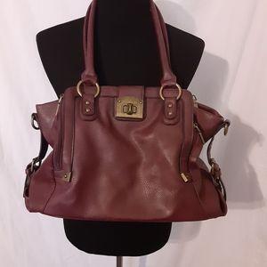 Black Rivet Burgundy handbag